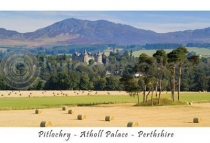 Pitlochry Hay Bales - Highland Perthshire Postcard (HA6)