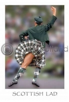 Scottish Lad Postcard (VA6)