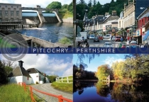 Pitlochry Composite Postcard (HA6)