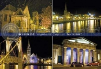 Inverness By Night Composite Postcard (H A6 LY)