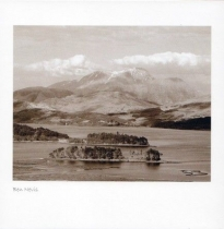 Ben Nevis Sepia Greetings Card (LY)