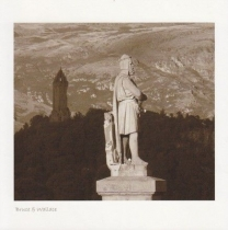 Bruce & Wallace Monument Sepia Greetings Card (LY)