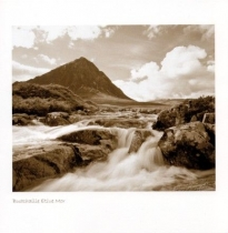 Buachaille Etive Mor Sepia Greetings Card (LY)