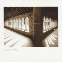 Cloisters, Iona Abbey Sepia Greetings Card (LY)