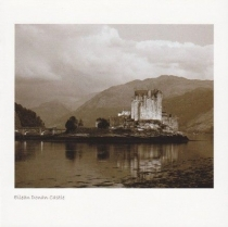 Eilean Donan Castle Sepia Greetings Card (LY)