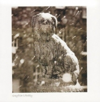 Greyfriars Bobby, Edinburgh Sepia Greetings Card (LY)
