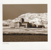 Iona Abbey, Snow Sepia Greetings Card (LY)