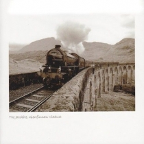 Jacobite Steam Train On Viaduct Sepia Greetings Card (LY)