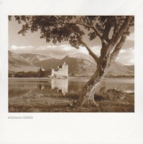 Kilchurn Tree, Loch Awe Sepia Greetings Card (LY)