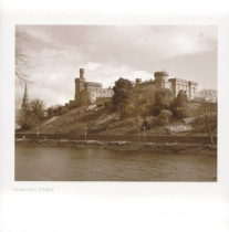 Inverness Castle Sepia Greetings Card (LY)