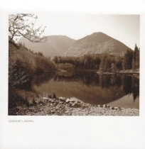 Glencoe Lochan Sepia Greetings Card (LY)