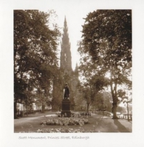 Scott Monument Sepia Greetings Card (LY)