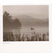 Fly Fishing Sepia Greetings Card (LY)