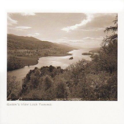 Queen's View, Loch Tummel (Sepia)