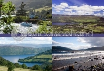 Loch Ness & Scottish Highlands Composite Postcard (H A6 LY)