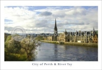 City of Perth & River Tay Postcard (HA6)