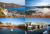 Scottish Borders Coastline Composite Postcard (H A6 LY)