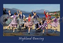 Highland Dancing Postcard (H A6 LY)