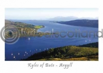 Kyles of Bute, Cowal Postcard (H A6 LY)