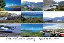 Fort William to Mallaig, Road to the Isles Postcard(H A6 LY)