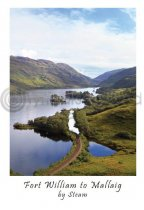 Fort William to Mallaig by Steam Postcard (V A6 LY)
