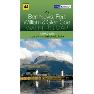 Walkers Map Ben Nevis, Fort William and Glen Coe