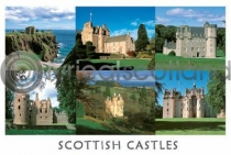 Scottish Castles Composite 1 Postcard (HA6)