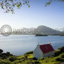 Highland Cottage, Torridon Colour Photo Greetings Card (LY)