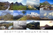 Scottish Mountains Postcard (HA6)