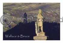 Bruce & Wallace Monuments from Castle Postcard (HA6)