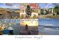Campbeltown Composite 2 Postcard (H A6 LY)