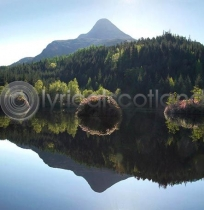 Glencoe Lochan & Pap of Glencoe Colour Photo Greetings Card