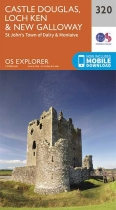 Explorer Map 320 Castle Douglas, Loch Ken & New Galloway