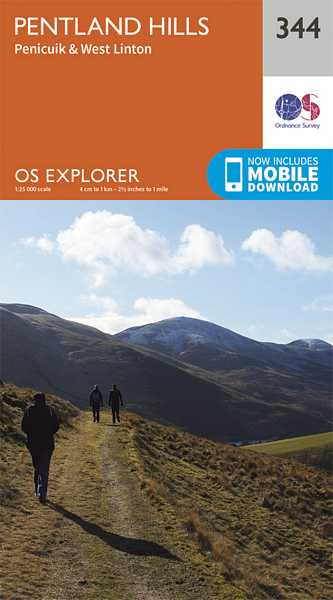 Explorer Map 344 Pentland Hills