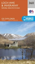 Explorer Map 360 Loch Awe & Inveraray