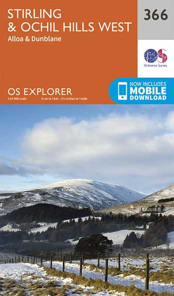Explorer Map 366 Stirling & Ochil Hills West