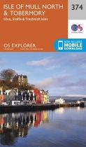 Explorer Map 374 Isle of Mull North & Tobermory