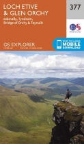 Explorer Map 377 Loch Etive & Glen Orchy