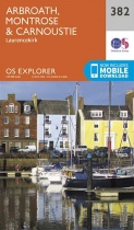 Explorer Map 382 Arbroath, Montrose & Carnoustie