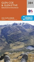 Explorer Map 384 Glen Coe & Glen Etive