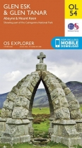 Explorer OL Map 54 Glen Esk & Glen Tanar