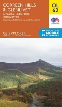 Explorer OL Map 62 Coreen Hills & Glenlivet