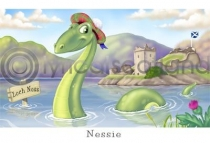 Nessie, Loch Ness Cartoon Postcard (HA6)