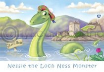 Scotland - Nessie Cartoon Magnet (H)