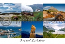 Around Lochaber Composite Postcard (H A6 LY)