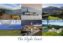 Clyde Coast Composite Postcard (H A6 LY)