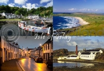 Islay - Isle of Islay Composite 2 Postcard (HA6)