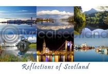 Reflections of Scotland Composite Postcard (HA6)