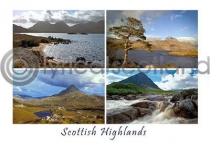 Scottish Highlands Composite Postcard (H A6 LY)