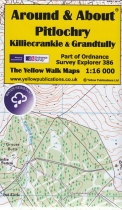 A&A Map Pitlochry, Killiecrankie & Grandtully & walks